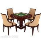 Antike Mahjong-Tisch-Gaming-Möbel