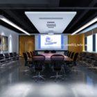 Scène d'intérieur de salle de réunion de composant de bureau