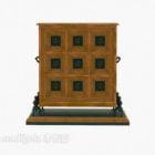 Armadietto laterale in legno francese