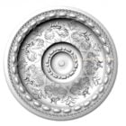 Ceiling Plaster Circle Carving Decoration