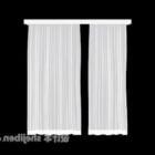 窓の白いカーテン