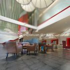 Restaurant Hall Interior Scene