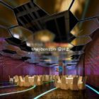Hotel Restaurant Night Interior Scene