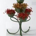 Iron Flower Rack Table