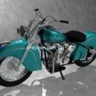 Vintage-Motorrad-Stahlgehäuse