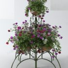 Iron Stand With Flower Potted