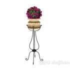 European Flower Potted On Stand
