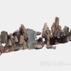 偽の山の石の装飾
