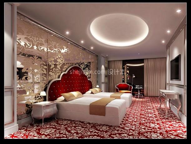 European Bedroom With Decoration Interior Scene