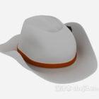 Weißer Cowboyhut
