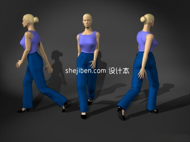 Lowpoly Fashion Girl Character
