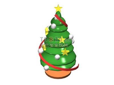 Christmas Tree Cartoon Style