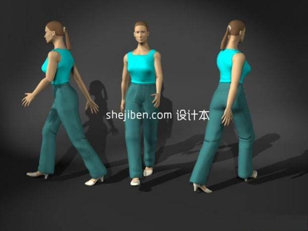 Female Lowpoly People Character