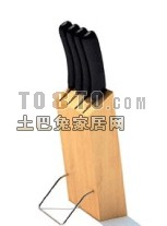 Kitchen Wood Knife Stand