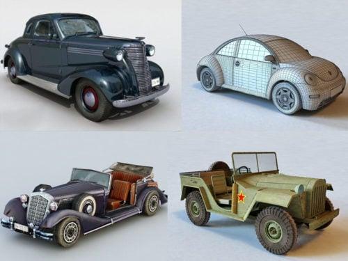 20 الجمال خمر سيارة 3D مجموعة نماذج