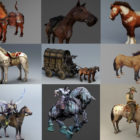 20 Realistic Horse 3d Models Collection