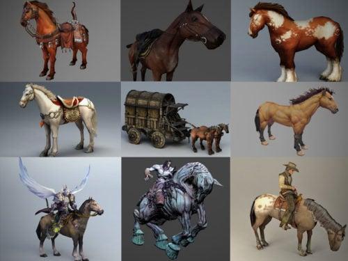 20 realistista hevonen 3d-mallistoa