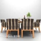 Eurooppalainen puinen ruokapöydän tuolinauha
