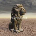 Outdoor Stone Lion Sculpture
