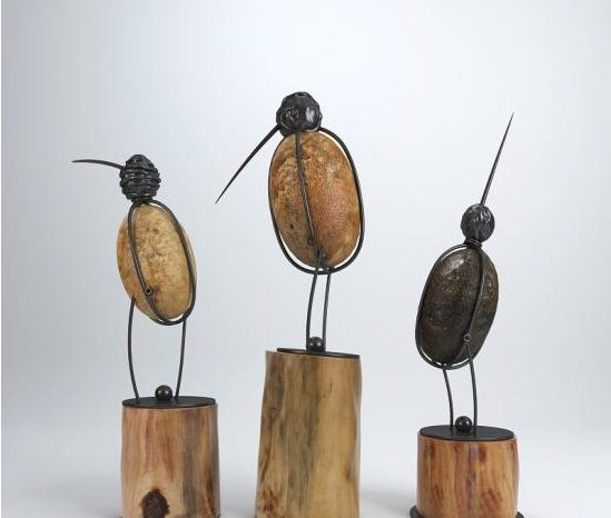 Arte de la escultura del pájaro