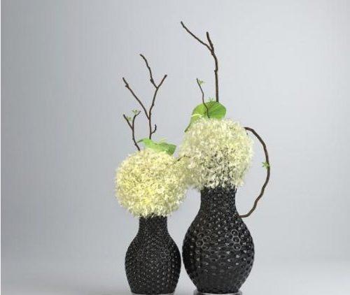 Black Vase Flower