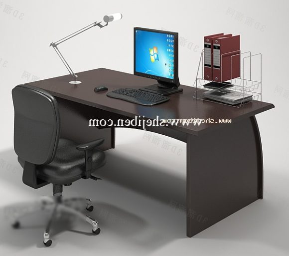 Boss Table With Computer