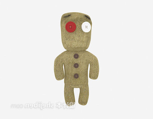 Wood Man Stuffed Toy
