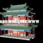 Starożytny chiński budynek dwupiętrowy