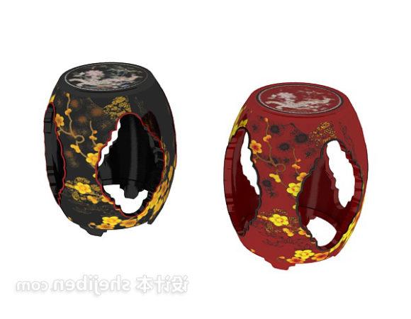 Ceramic Drum Stool Furniture