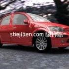 Samochód Citroen Czerwony Sedan