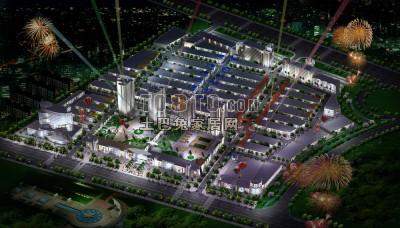 City Scene Night Lighting