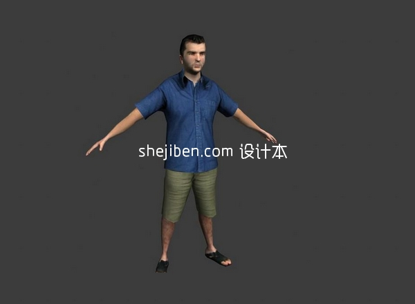 Man Character Lowpoly