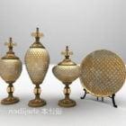 Europäische Messingkunstvase dekorativ