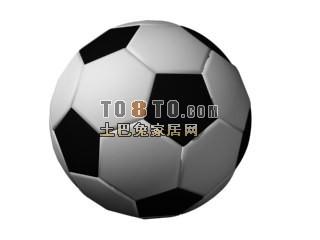 Football Ball Black White