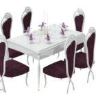Ranskan violetti pöytä ja ruokapöydän tuoli