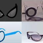Briller 3D-modeller Samling Gratis download