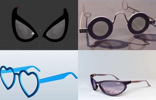 Colección de modelos 3D de gafas Descarga gratuita