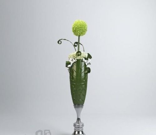 Green Floral Plant Ornament