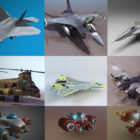High Detailed Aircraft 3D Models Collection 2020