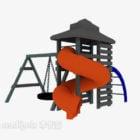 Kindergarten Sliding House