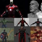Marvel Super Heroes 3D Models Collection