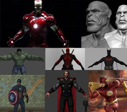 Colección de modelos 3D de Marvel Super Heroes