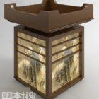 Antike chinesische Deckenlampe