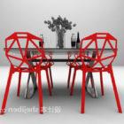 Modernismin ruokapöytä ja tuolisarja