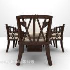 Moderni puinen ruokapöydän tuolisarja