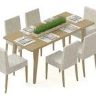 Minimalistinen ruokapöytä ja ruokapöydän tuoli
