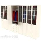 Wardrobe Glass Door With Wood Frame