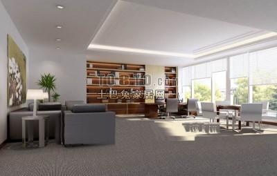 Office Living Room Space Interior Scene