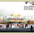 Starożytny chiński budynek kamienicy
