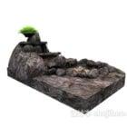 リアルな偽の山の石の装飾